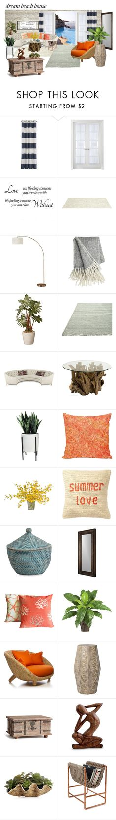 """""""Beach Home"""" by norma-licata ❤ liked on Polyvore featuring interior, interiors, interior design, home, home decor, interior decorating, Liz Claiborne, Somerset Bay, Ambella and Uttermost"""