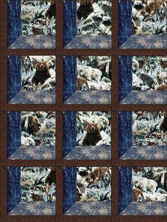 Winter Wildlife in my Window Quilt Kit Precut Blocks