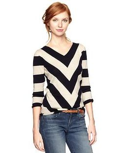 Intarsia chevron sweater | Gap -- I LOVE this sweater. I look so fashionable just for putting it on.