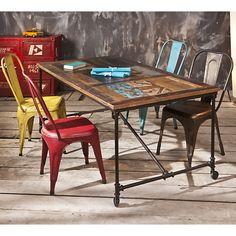 Table Camif, achat Table rectangulaire Vintage sur roulettes prix promo Camif 590.00 € TTC.