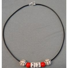 Personalized Ceramic  Volleyball Necklace