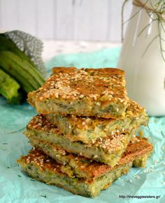 Νηστίσιμη μπατζίνα Vegetarian Recepies, Veggie Recipes, Vegan Vegetarian, Diet Recipes, Recipies, Veggie Meals, Greek Desserts, Greek Recipes, Zucchini Pie