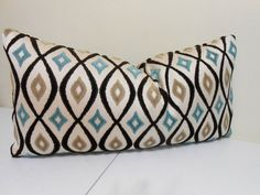 Patterned Velvet Lumbar Pillow Cover Hight End by ZourraDesigns Pillow Fabric, Lumbar Pillow, Throw Pillows, Turquoise Pillows, Pillow Covers, Velvet, Etsy, Vintage, Brown