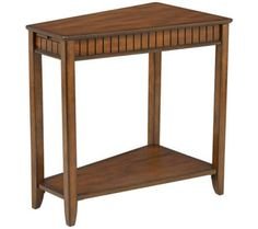 Brown Cherry Wood Wedge Table | 55DowningStreet.com