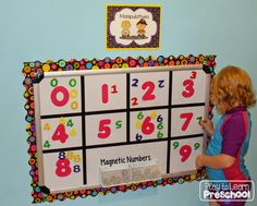 Magnetic Numbers (Visual Discrimination) - First Week Centers and Circle Time from Play to Learn Preschool