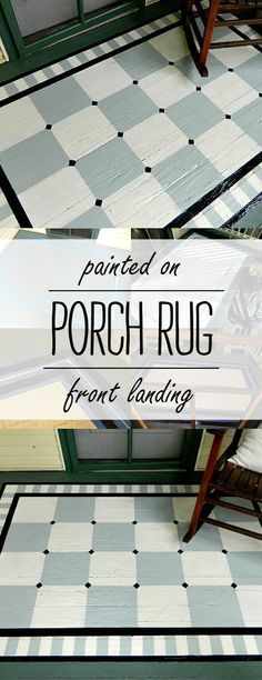painted porch rug [saving the best for last] - It All Started With Paint How to paint a pattern on porch. Painted Porch Rug project including full tutorial with pictures on how to paint rug on porch.