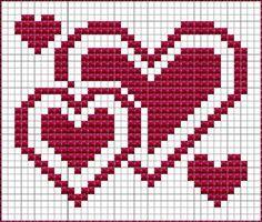 Valentines dish cloth, knitting pattern – Molly Book – Willkommen bei Pin World Dishcloth Knitting Patterns, Knit Dishcloth, Knitting Charts, Knitting Stitches, Crochet Patterns, Embroidery Patterns, Cross Stitching, Cross Stitch Embroidery, Cross Stitch Designs