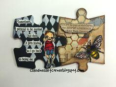 Claudine's Art Corner: Altered Puzzle Challenge Week 7