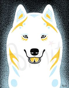 White siberian husky by SiberianArt on Etsy, $35.00