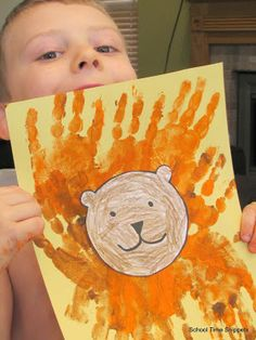 FIAR: Andy and the Lion  Activities include Handprint Lion, Line of Design, Personification, & the circus!!