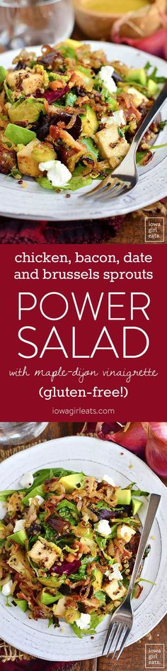 Chicken, Bacon, Date, and Brussels Sprouts Quinoa Power Salad is filled with flavor and protein-packed ingredients to power…