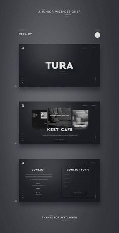 UI design on Behance - - Entwurf Tura. UI design on Behance Best Picture For Web Design for beginners For Your Taste You are looking for something, and it Ui Ux Design, Web And App Design, Logo Design, Web Design Black, Responsive Web Design, Brand Design, Design Agency, Layout Web, Website Design Layout