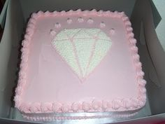 Diamond themed cake