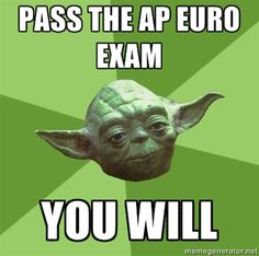 PASS THE AP EURO EXAM YOU WILL  ..for my ap euro students this year :)