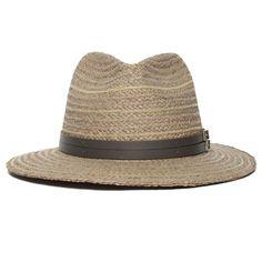 Goorin Tanlines Brim Fedora Hat w/ Sweatband in Blue/Black size Small Wide Brim Fedora, Straw Fedora, Fedora Hat, Mens Summer Hats, Flat Cap, Back Strap, Hat Sizes, Panama Hat, Blue