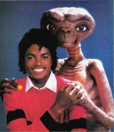 Michael Jackson with E.T.