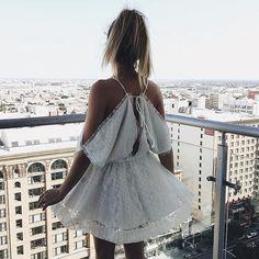 Halle Drape Dress | #SaboSkirt  Boho in the city with our girl @whitneybearr