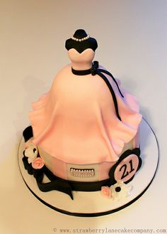 21st Birthday Dress Cake