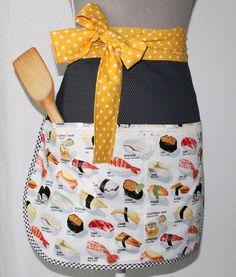 """Schürze """"Sushi"""" von Naehwerkstatt auf DaWanda.com"""