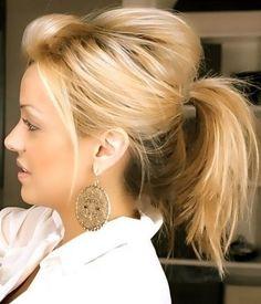 cola de caballo cabello media melena