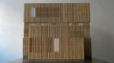 House DSBL, scale model exterior wood design by Bernaar Leenders for De Blauwe Hond  Build @ 2012 IJburg Amsterdam   (in cooperation with MIR architects)
