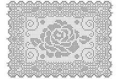 Crochet Tablecloth, Filet Crochet, Doilies, Diagram, Words, Crochet Accessories, Rugs, Crochet Flowers, Tablecloths