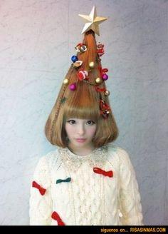Peinado árbol de navidad.