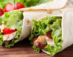 Try our easy and popular recipe for chicken wraps...