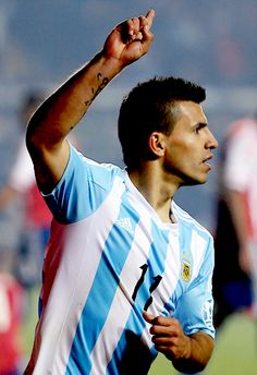 Agüero after his goal ##CopaAmerica2015