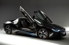 BMW I8 DOORS | 2014 BMW i8 right side view doors open