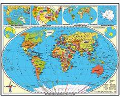 XXL/1,80 Meter Welt politisch (fortgeschritten), laminiert!