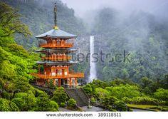 Japanese Temple Mountain View kuvitusvalokuvat   Shutterstock