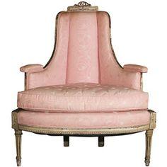 Painted Louis XVI Style Corner Chair Attr. Jansen