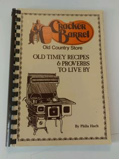 Vintage 1986 Cracker Barrel Recipe Cookbook Old Country Store by SunnyDaysCollectible on Etsy