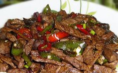 Beef in soy sauce - Light Recipe - Dish and Recipe - Here is the recipe for Beef in Weight Watchers soy sauce, an ideal dish for lunch. Crockpot Recipes For Two, Crockpot Chicken Healthy, Beef Recipes, Mince Recipes, Beef Tips, Plats Weight Watchers, Weight Watchers Meals, Super Dieta, Healthy Breakfast Recipes