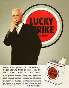 Afbeeldingsresultaat voor mad men advertisement smoking