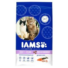 Iams Adult Dry Cat Food Multicat Chicken and Salmon 3kg ** undefined