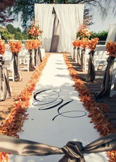 16 Awesome Outside Fall Wedding Ideas! #weddingideas