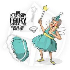 Art Impressions - Birthday Fairy Set
