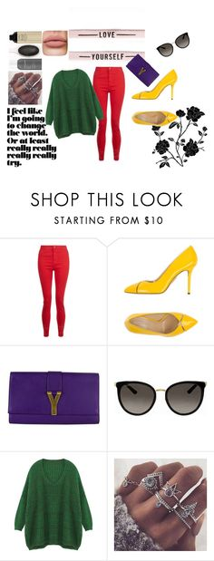 """Love yourself"" by lada15-99 on Polyvore featuring мода, Charlotte Olympia, Yves Saint Laurent и Gucci"