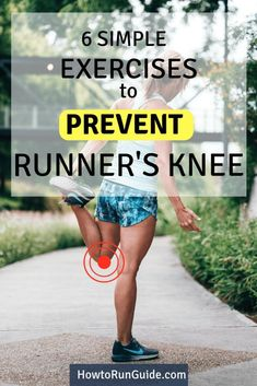 6 Simple (but Powerful) Exercises to Prevent Runner's Knee Running Injuries, Running Workouts, Easy Workouts, Running Tips, Running Warm Up, Running Plan, Fat Workout, Strength Exercises For Runners, Strength Workout