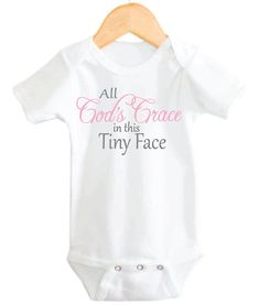 Christian Baby Onesie Baby Girl Onesie God by littleadamandeve, $14.99