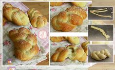 TRECCINE SOFFICI ALLO YOGURT Biscotti, Croissants, Sweet Bread, Diy Food, Cooking Time, Bread Recipes, Food And Drink, Sweets, Lunch