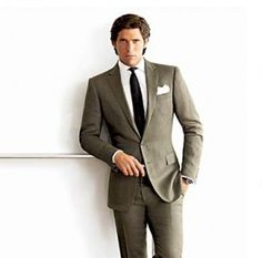 I like the suit color with the black tie… simple