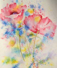 Remembrance poppy - Brusho