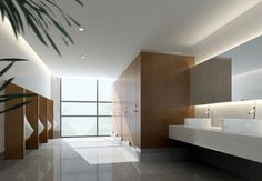 Male Toilet Interior 3D