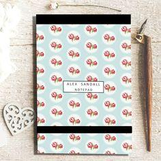 Notepad - Circle Rose
