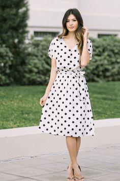 8d8a8e9b0fddb1 Shop the Lori Ivory Polka Dot Dress - boutique clothing featuring fresh