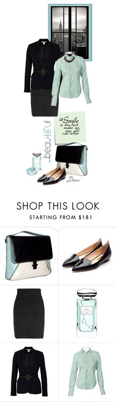 """""""Busy Monday"""" by dora664 ❤ liked on Polyvore featuring Post-It, COSTUME NATIONAL, Rupert Sanderson, Theory, By Terry, Diane Von Furstenberg and Ralph Lauren"""