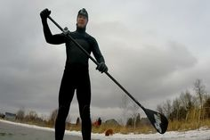 Northern Michigan in Focus: Winter Paddle Boarding on the Great - Northern Michigan's News Leader